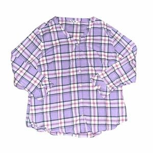 Riders By Lee Women's Plaid Button Down Shirt